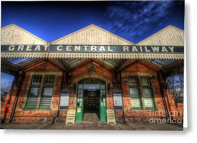 Entrance Door Greeting Cards - Great Central Railway Greeting Card by Yhun Suarez