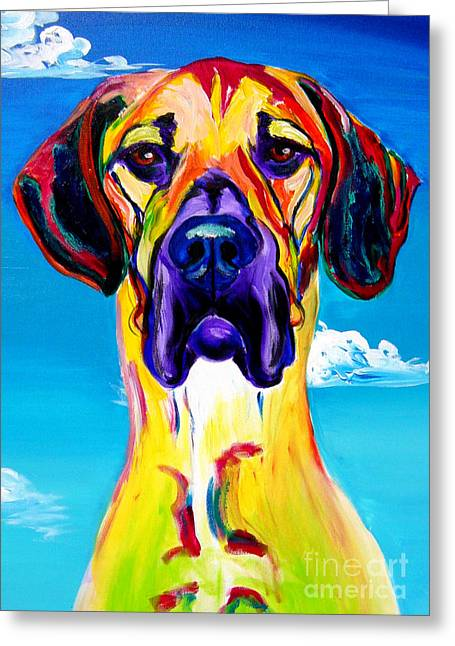 Alicia Vannoy Call Paintings Greeting Cards - Great Dane - Philosopher Greeting Card by Alicia VanNoy Call