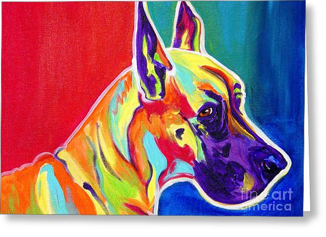 Alicia Vannoy Call Greeting Cards - Great Dane - Rainbow Dane Greeting Card by Alicia VanNoy Call