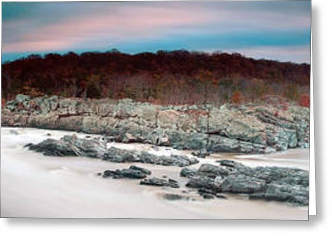 Hitech Greeting Cards - Great Falls apres Sandy Greeting Card by Edward Kreis