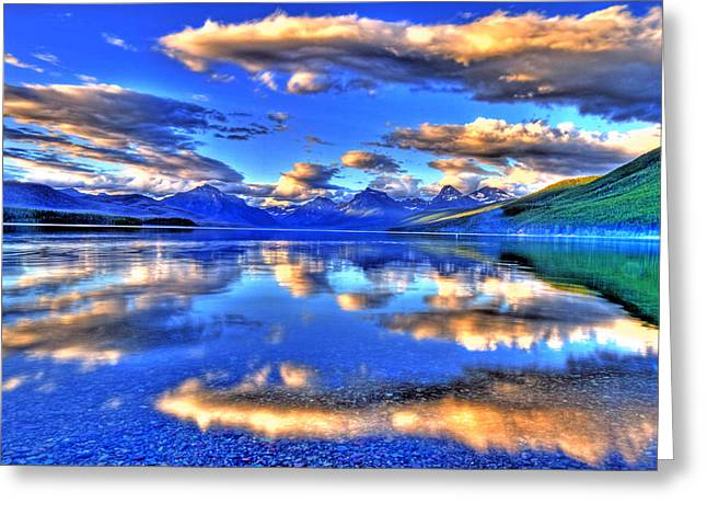 Great Glacier Lake Greeting Card by Scott Mahon