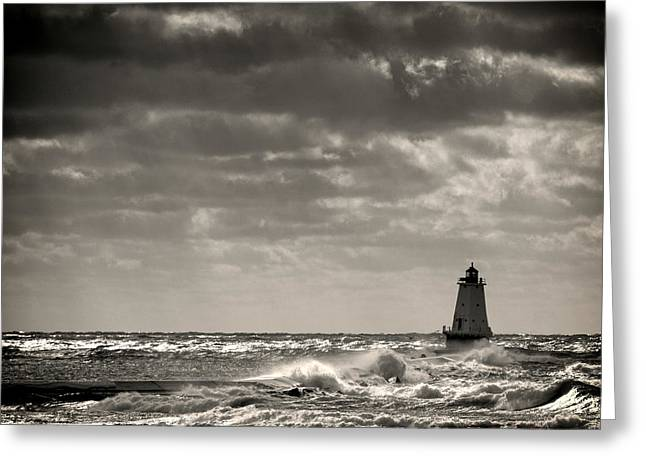 Timothy J Berndt Greeting Cards - Great Lakes Storm Season  Greeting Card by Timothy J Berndt