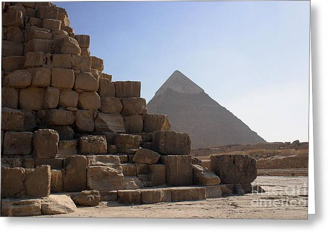 African Heritage Greeting Cards - Great Pyramids Khafre Greeting Card by Darcy Michaelchuk