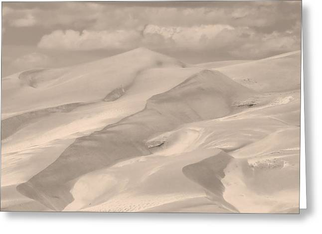Great Sand Dunes National Preserve Greeting Cards - Great Sand Dunes  - In Sepia Greeting Card by James BO  Insogna