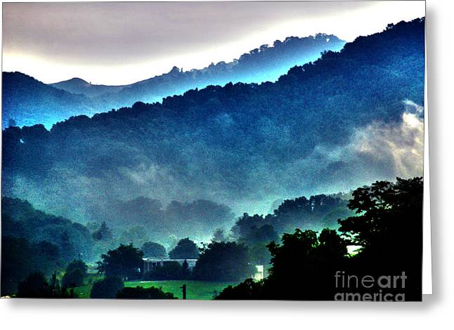 Great Smokey Mountains Greeting Cards - Great Smokey Mountains Greeting Card by Susanne Van Hulst