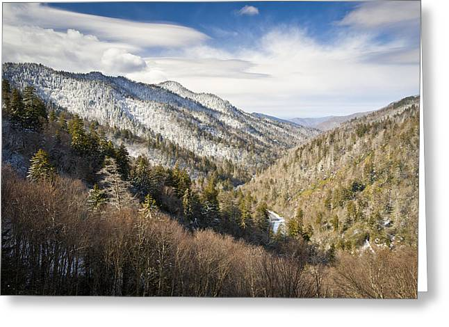 Great Smoky Mountains National Park Winter Snow Gatlinburg TN Greeting Card by Dave Allen