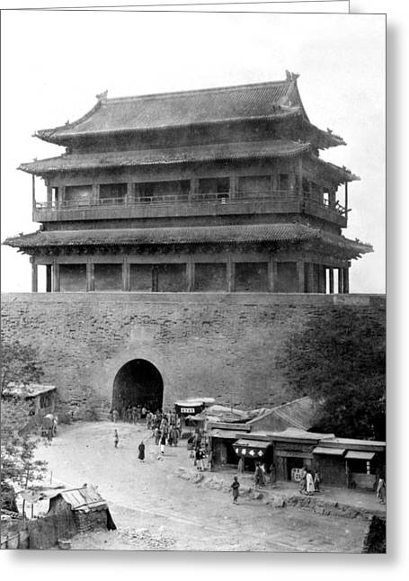 Peking Greeting Cards - Great Wall of China - Peking - c 1901 Greeting Card by International  Images
