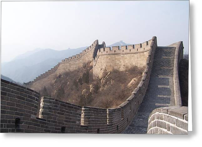 Steve Huang Greeting Cards - Great wall of China Greeting Card by Steve Huang
