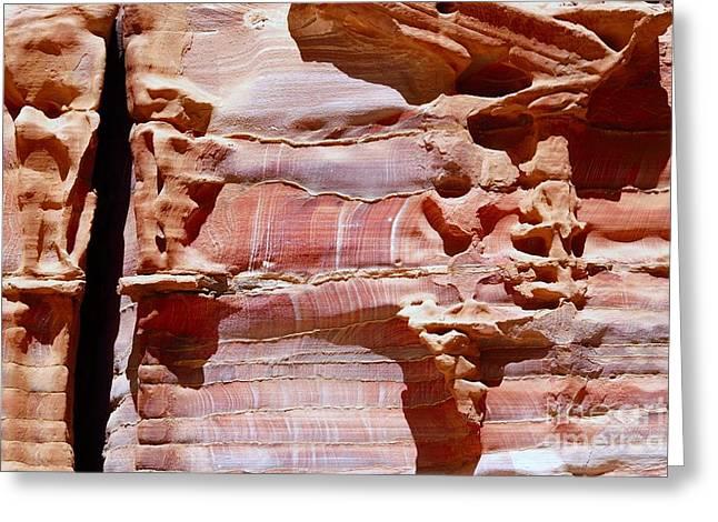 Petra - Jordan Digital Greeting Cards - Great Wall of Petra Jordan Greeting Card by Eva Kaufman