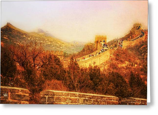 Fire Stones Greeting Cards - Great Wall Greeting Card by Stuart Deacon