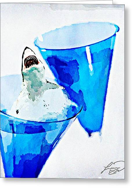 Champagne Glasses Greeting Cards - Great White Chardonnay Greeting Card by Lauranns Etab