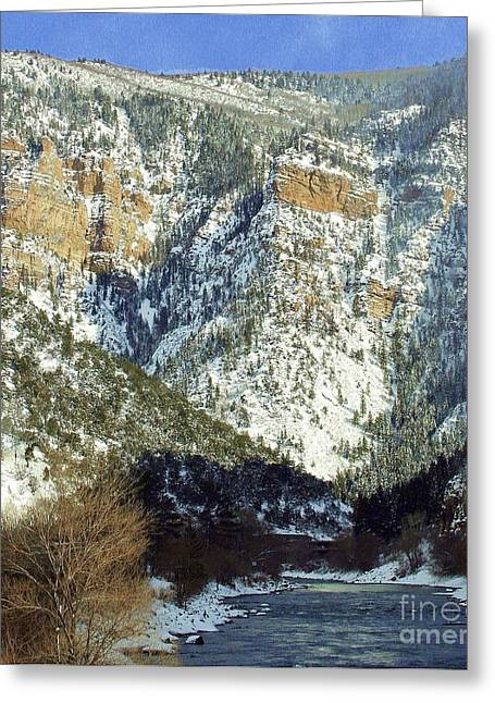Snow Capped Greeting Cards - Greater Colorado Greeting Card by Julie Lueders