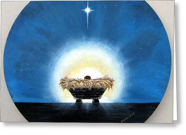 Baby Jesus Mixed Media Greeting Cards - Greatest  Gift Greeting Card by Riley Geddings