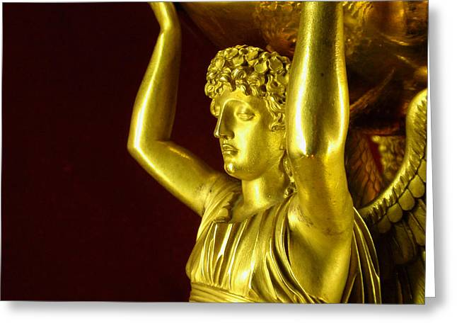Sculpture Jewelry Greeting Cards - Grecian Gold Greeting Card by Edan Chapman