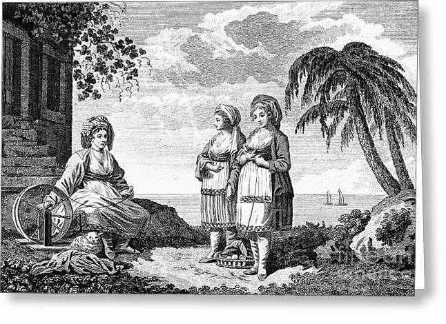 Distaff Greeting Cards - GREECE: IOS, c1790 Greeting Card by Granger