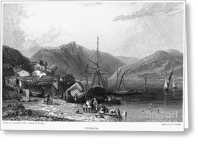 Best Sellers -  - Ithaca Greeting Cards - Greece: Ithaca, 1832 Greeting Card by Granger