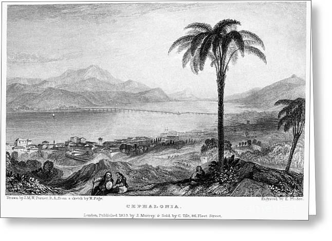 Greece: Kefalonia, 1833 Greeting Card by Granger