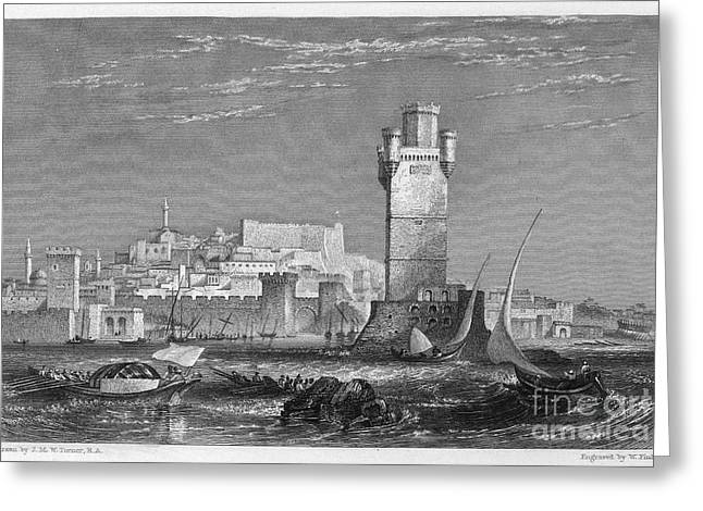 1850s Greeting Cards - GREECE: RHODES, c1850 Greeting Card by Granger