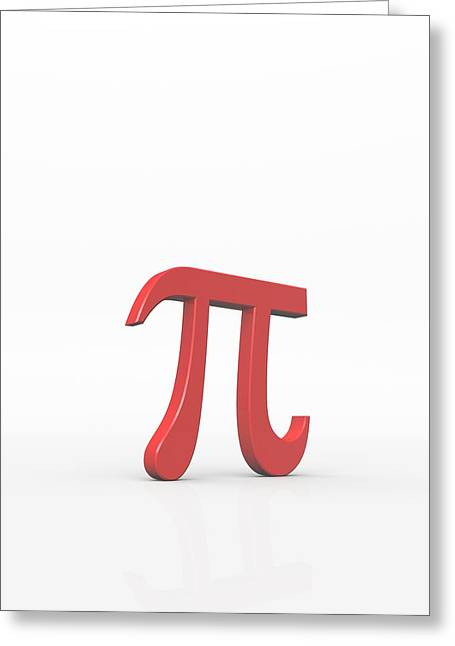 Circumference Greeting Cards - Greek Letter Pi, Lower Case Greeting Card by David Parker