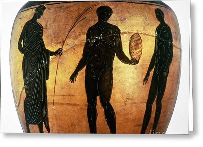 GREEK OLYMPIAN Greeting Card by Granger
