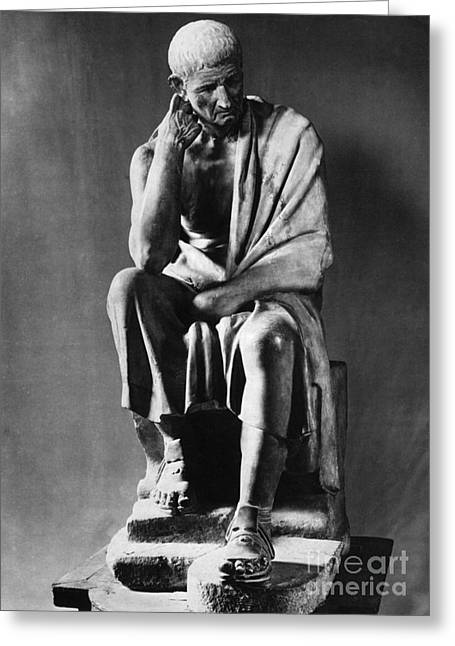 Greek Sculpture Greeting Cards - Greek Philosopher Greeting Card by Photo Researchers