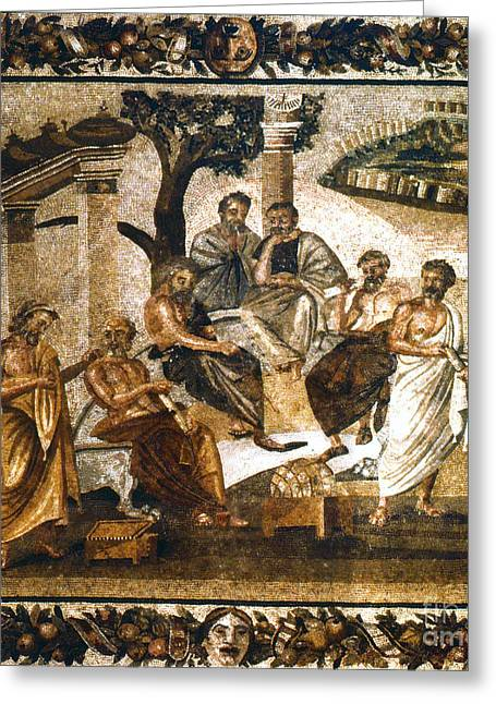 Platonic Greeting Cards - Greek Philosophers Greeting Card by Granger