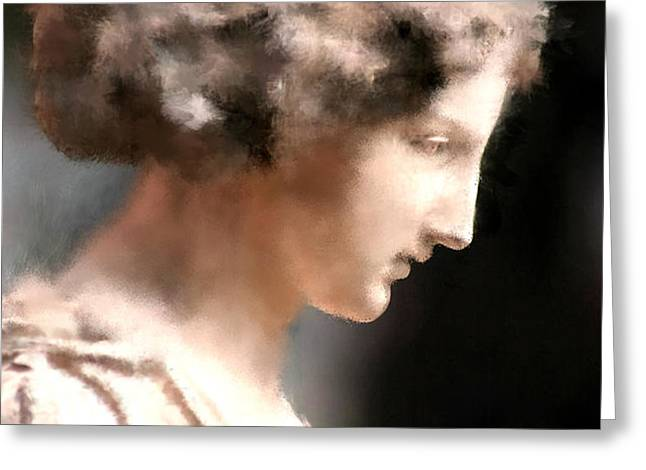greek woman Greeting Card by Ilias Athanasopoulos