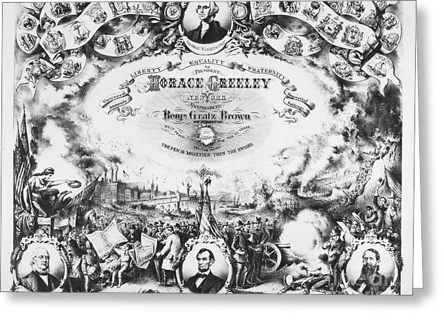 Greeley Greeting Cards - Greeley: Election Of 1872 Greeting Card by Granger