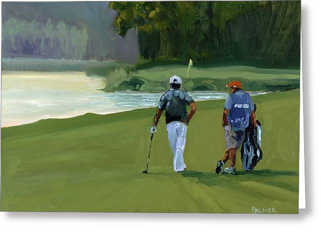 Whistling Straits Greeting Cards - Green Ambition Greeting Card by Scott Palmer