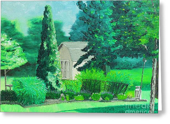 Green and Growing Greeting Card by Joseph Palotas