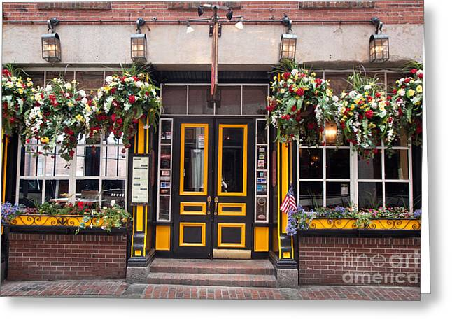 Colonial Architecture Greeting Cards - Green Dragon Tavern Greeting Card by Susan Cole Kelly