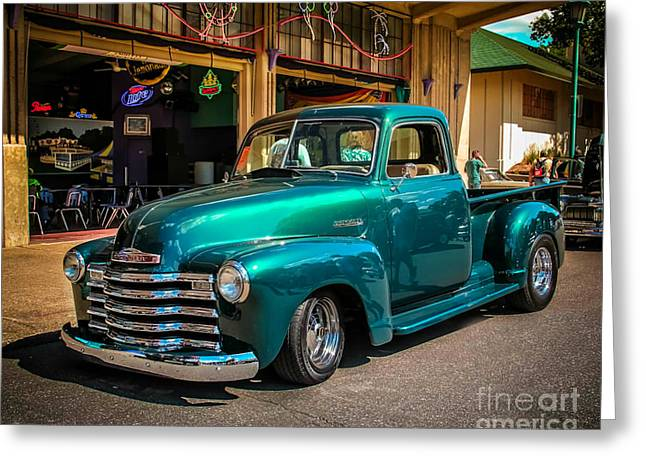 Old Truck Photography Greeting Cards - Green Dreams Greeting Card by Perry Webster