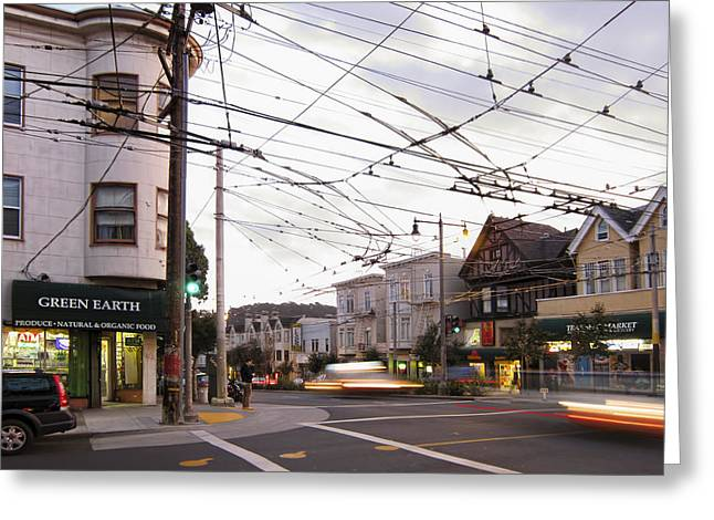 Grocery Store Greeting Cards - Green Earth Foods - San Francisco Greeting Card by Daniel Hagerman