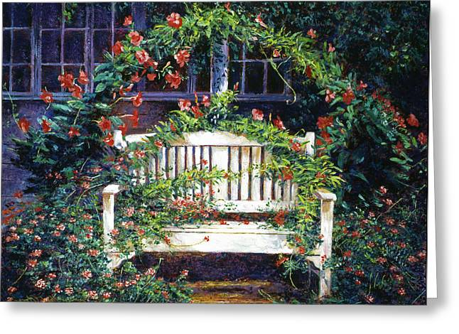 Vines Greeting Cards - Green Gables Greeting Card by David Lloyd Glover