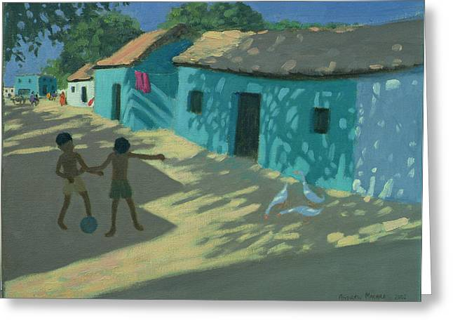Vernacular Architecture Greeting Cards - Green House Greeting Card by Andrew Macara