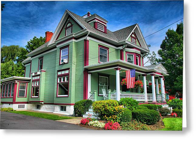 Frame House Photographs Greeting Cards - Green House Greeting Card by Steven Ainsworth