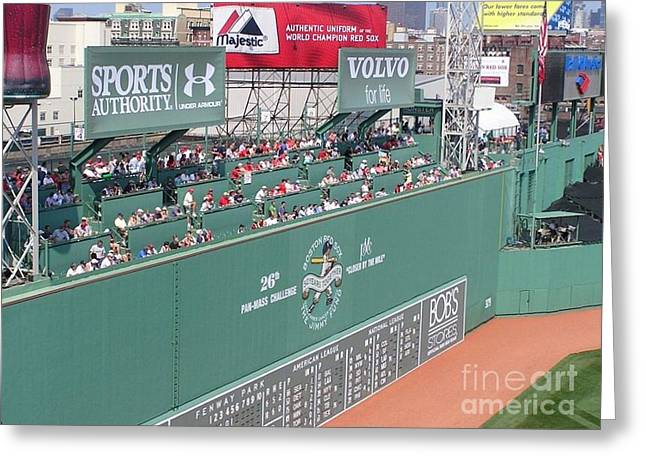 Green Monster Greeting Card by Kevin Fortier