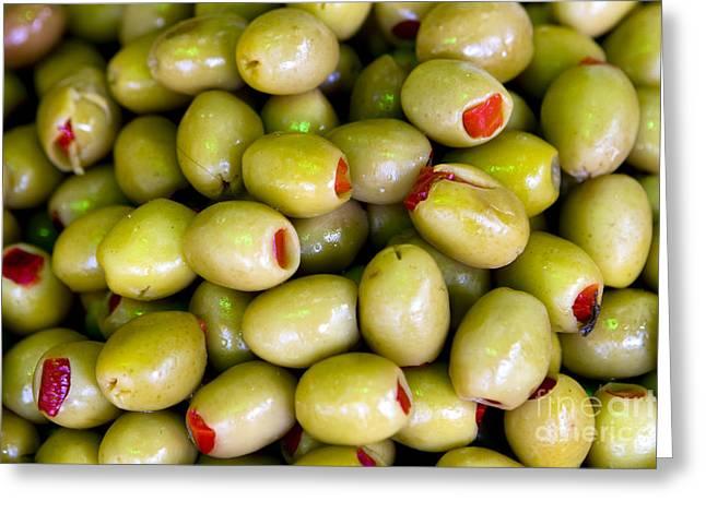 Leda Photography Greeting Cards - Green Olives Greeting Card by Leslie Leda