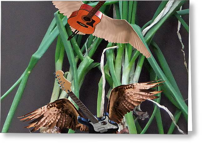 Green Onions Greeting Card by Eric Kempson