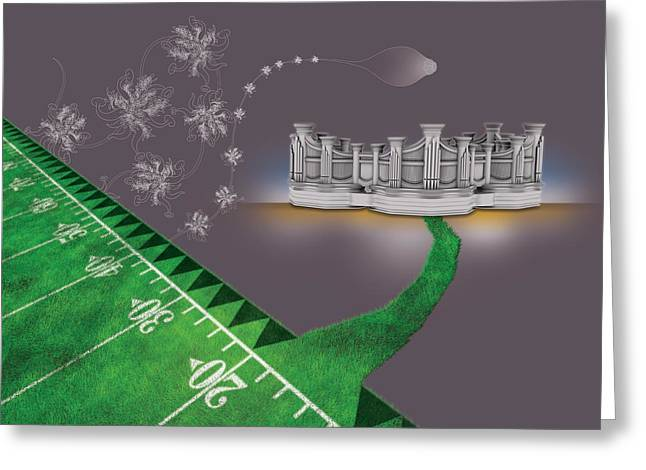 Air Brush Greeting Cards - Green Pipes Greeting Card by Foltera Art