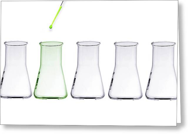 Green Science, Conceptual Image Greeting Card by Gombert, Sigrid