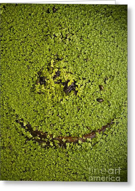 Greening Greeting Cards - Green Smile Greeting Card by Wittaya Uengsuwanpanich