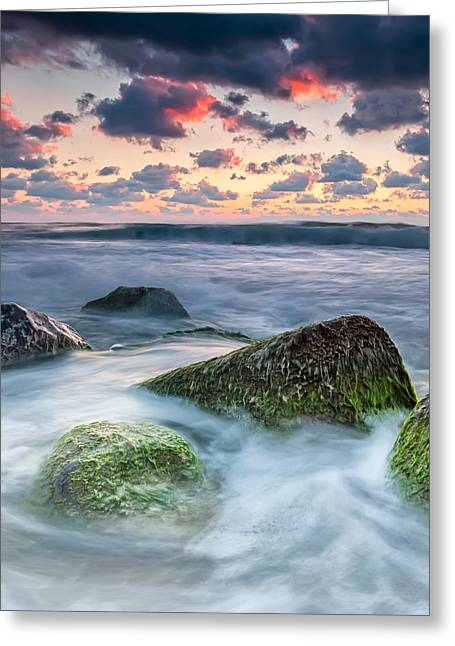 Irakli Greeting Cards - Green Stones Greeting Card by Evgeni Dinev