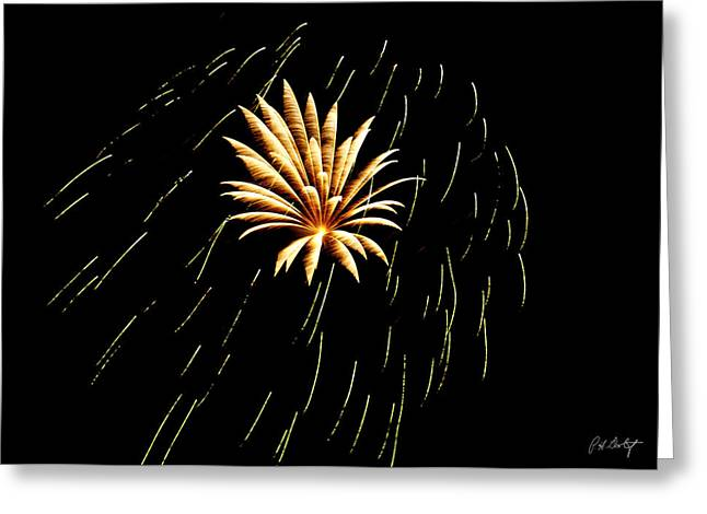 Green Streaks Greeting Card by Phill  Doherty