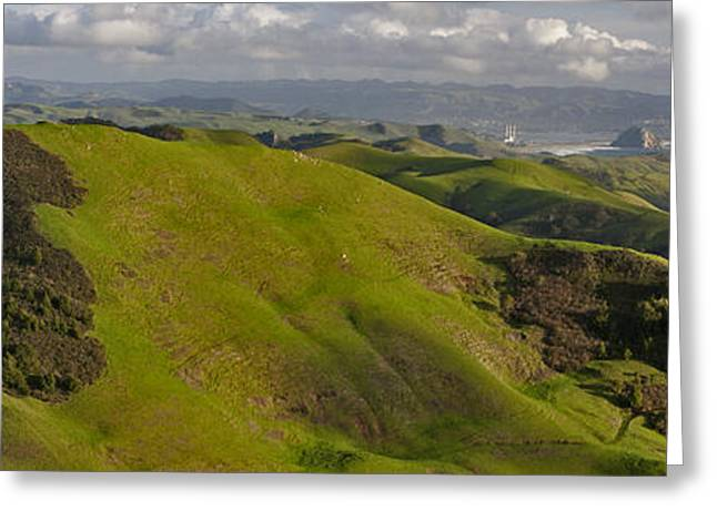 Hwy 46 Greeting Cards - Green Valley Seascape 1 of 2 Greeting Card by Gregory Scott