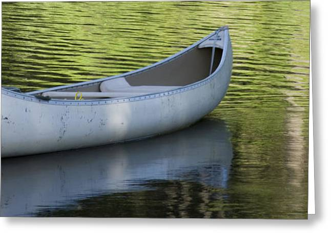 Green Canoe Greeting Cards - Green Water Greeting Card by Idaho Scenic Images Linda Lantzy