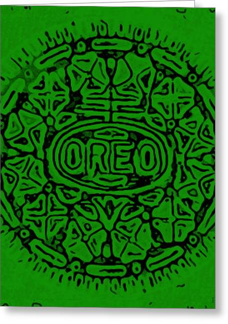 Oreo Greeting Cards - Greener Oreo Greeting Card by Rob Hans