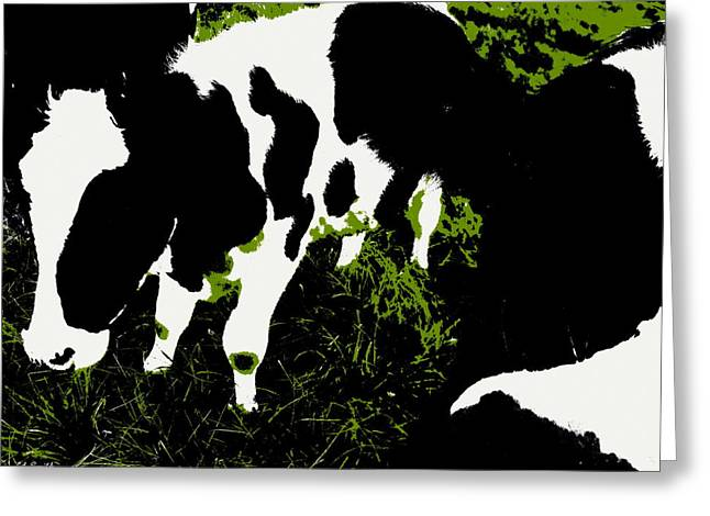Indiana Landscapes Digital Art Greeting Cards - Greener Pastures Greeting Card by Ed Smith