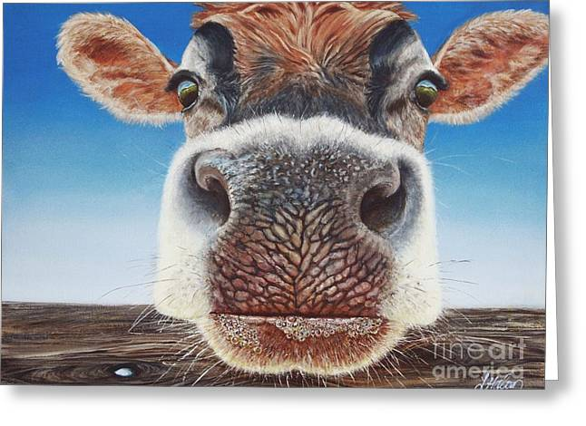 Swiss Paintings Greeting Cards - Greener Pastures Greeting Card by Linda Halom