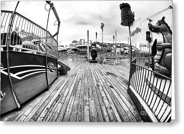 Seaside Heights Greeting Cards - Greeters Greeting Card by John Rizzuto